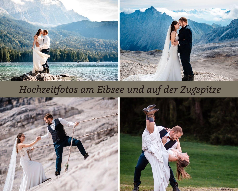 Hochzeitsfoto zugspitze eibsee heiraten fotograf  - Hochzeitsfotos am Eibsee