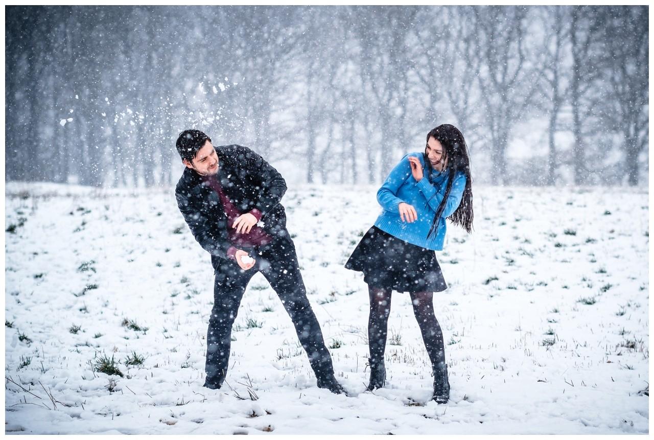 Shooting im Schnee Paarfotos Fotograf 1 - Shooting im Schnee