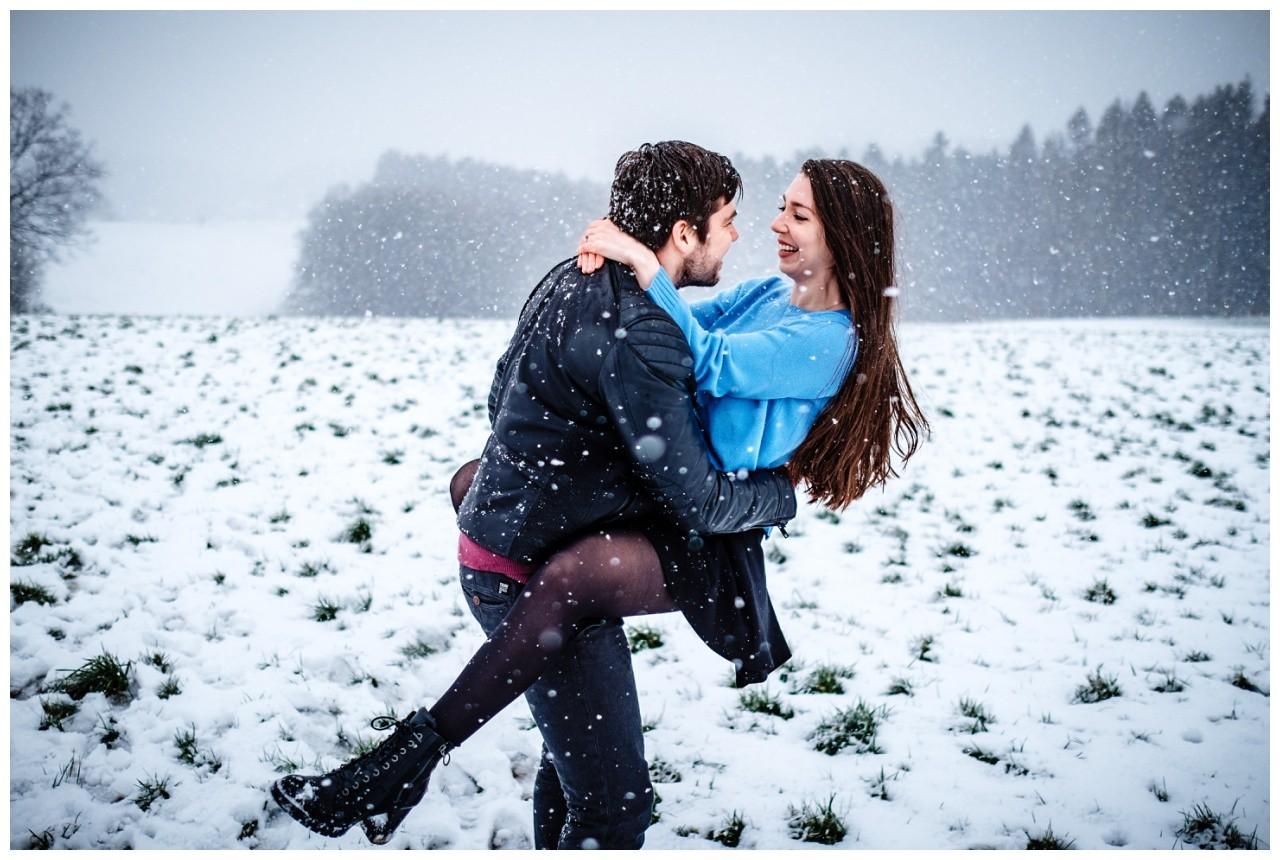 Shooting im Schnee Paarfotos Fotograf 10 - Shooting im Schnee