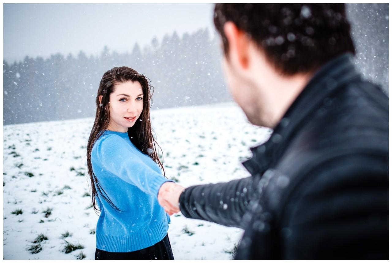 Shooting im Schnee Paarfotos Fotograf 23 - Shooting im Schnee