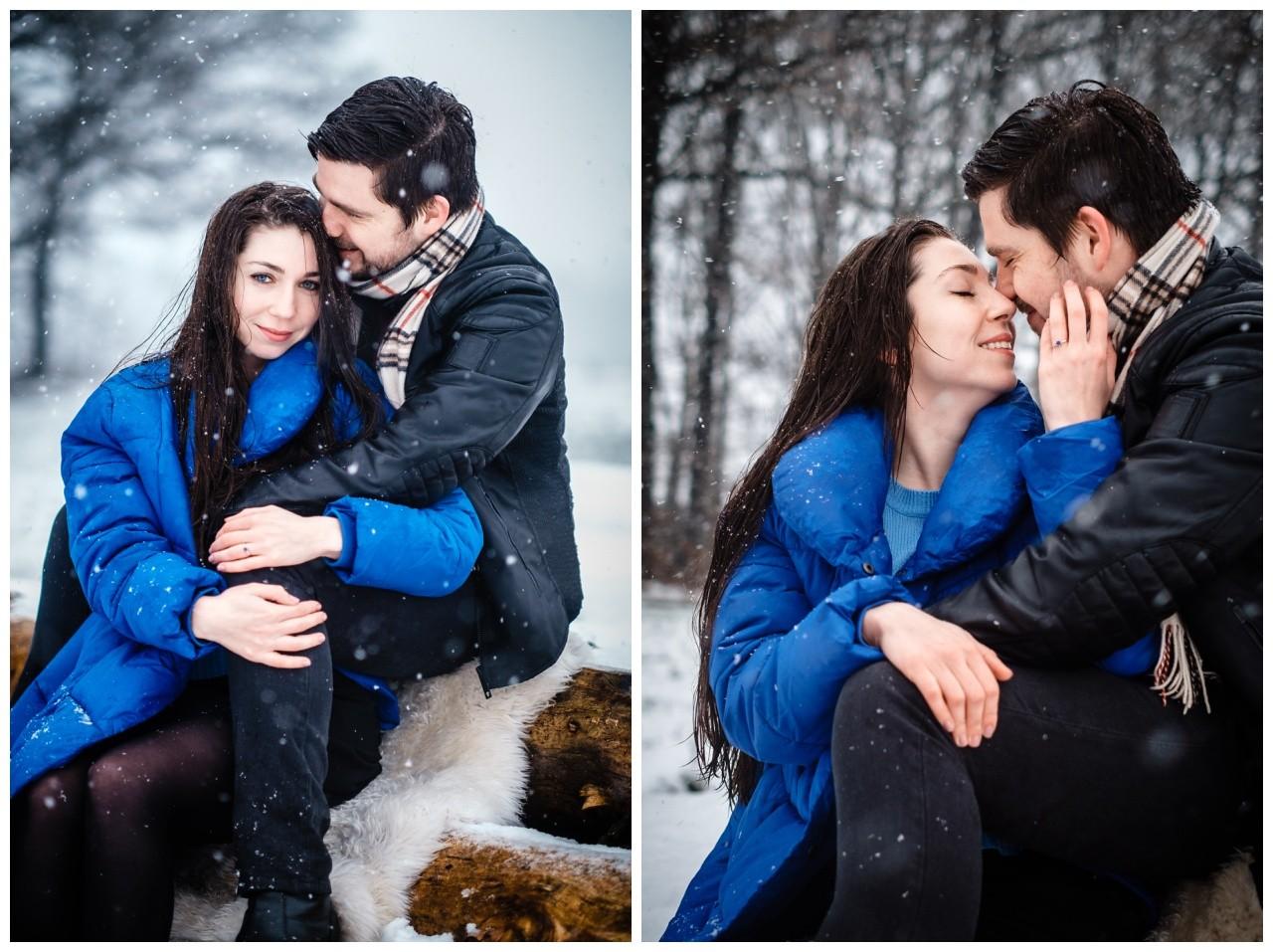 Shooting im Schnee Paarfotos Fotograf 25 - Shooting im Schnee