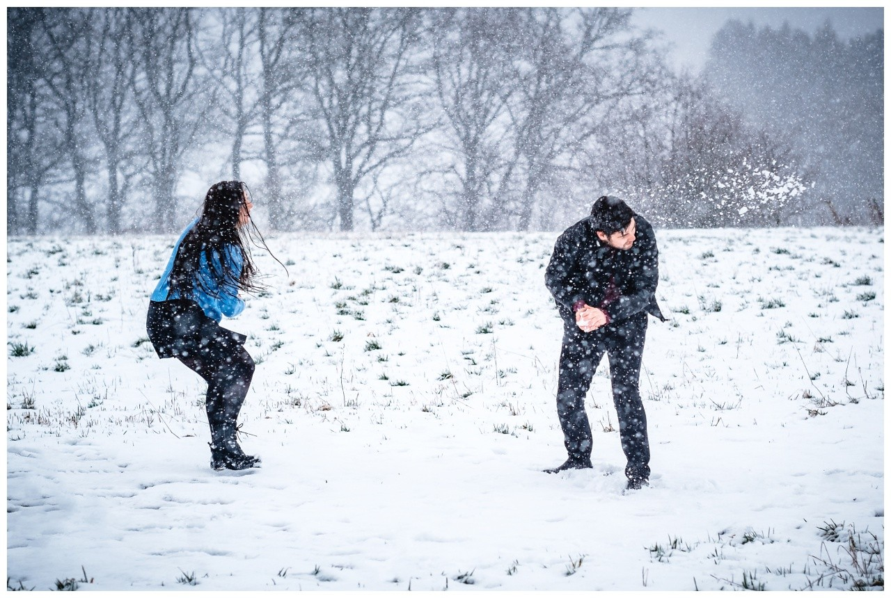 Shooting im Schnee Paarfotos Fotograf 32 - Shooting im Schnee