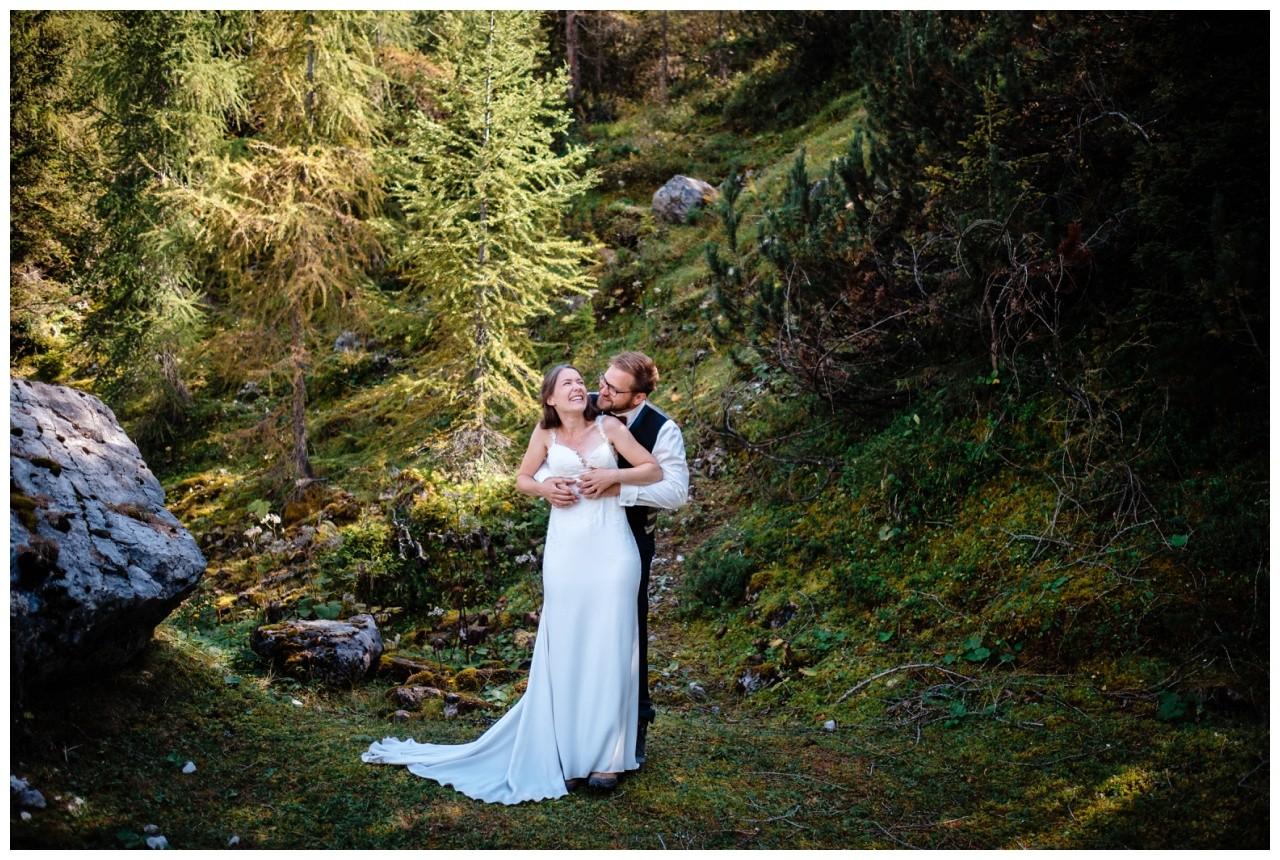 hochzeitsfoto eibsee zugspitze gamisch hochzeitsfotograf foto paarshooting 20 - Hochzeitsfotos am Eibsee