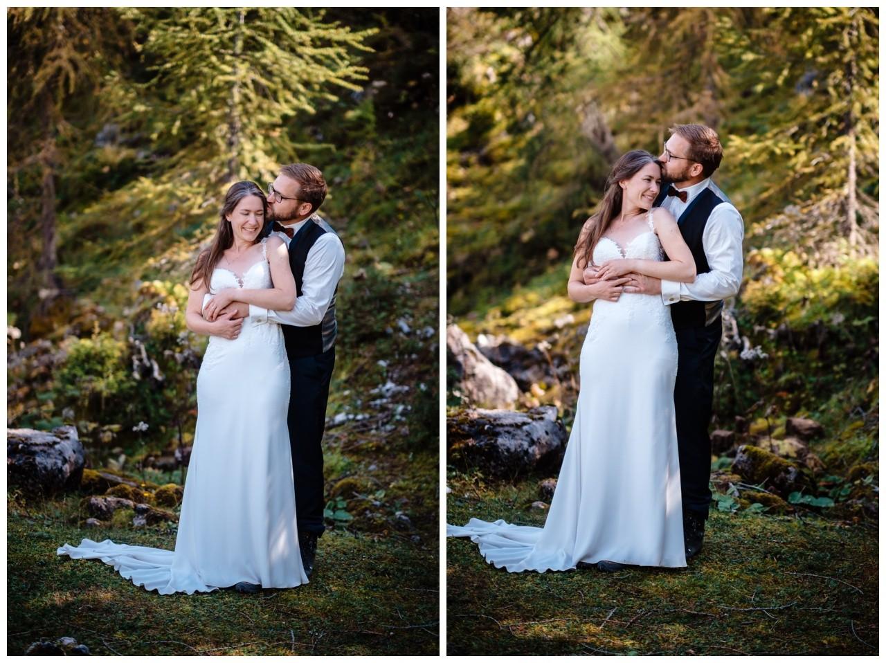 hochzeitsfoto eibsee zugspitze gamisch hochzeitsfotograf foto paarshooting 22 - Hochzeitsfotos am Eibsee