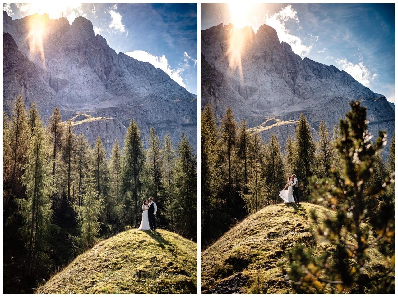 hochzeitsfoto eibsee zugspitze gamisch hochzeitsfotograf foto paarshooting 23 - Hochzeitsfotos am Eibsee