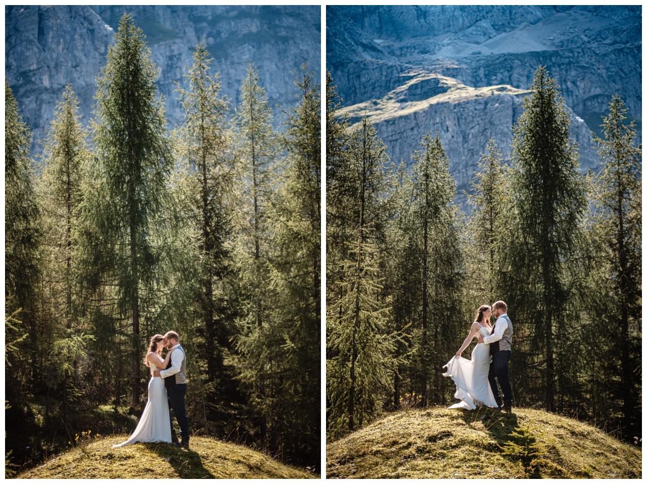 hochzeitsfoto eibsee zugspitze gamisch hochzeitsfotograf foto paarshooting 24 - Hochzeitsfotos am Eibsee