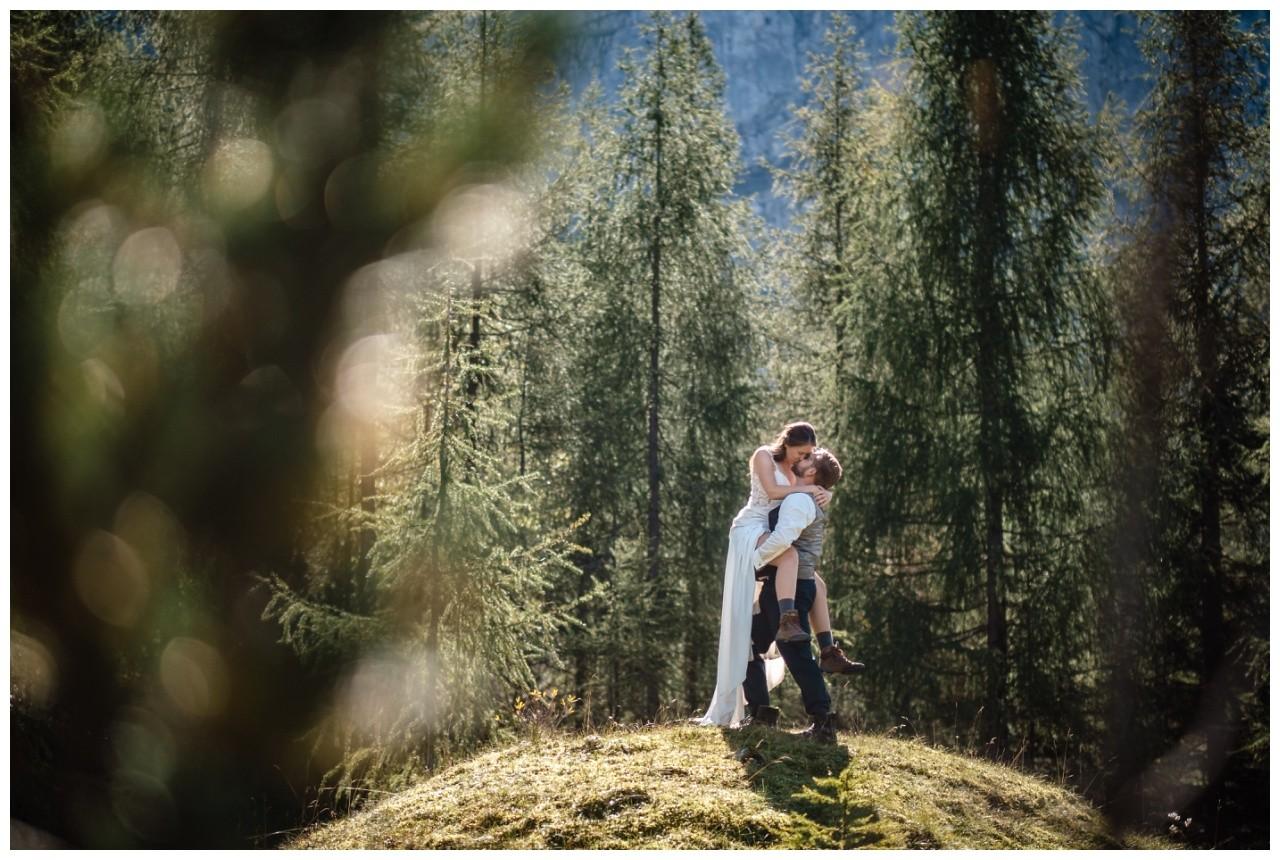 hochzeitsfoto eibsee zugspitze gamisch hochzeitsfotograf foto paarshooting 25 - Hochzeitsfotos am Eibsee