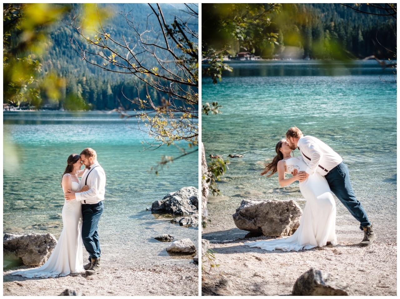 hochzeitsfoto eibsee zugspitze gamisch hochzeitsfotograf foto paarshooting 29 - Hochzeitsfotos am Eibsee