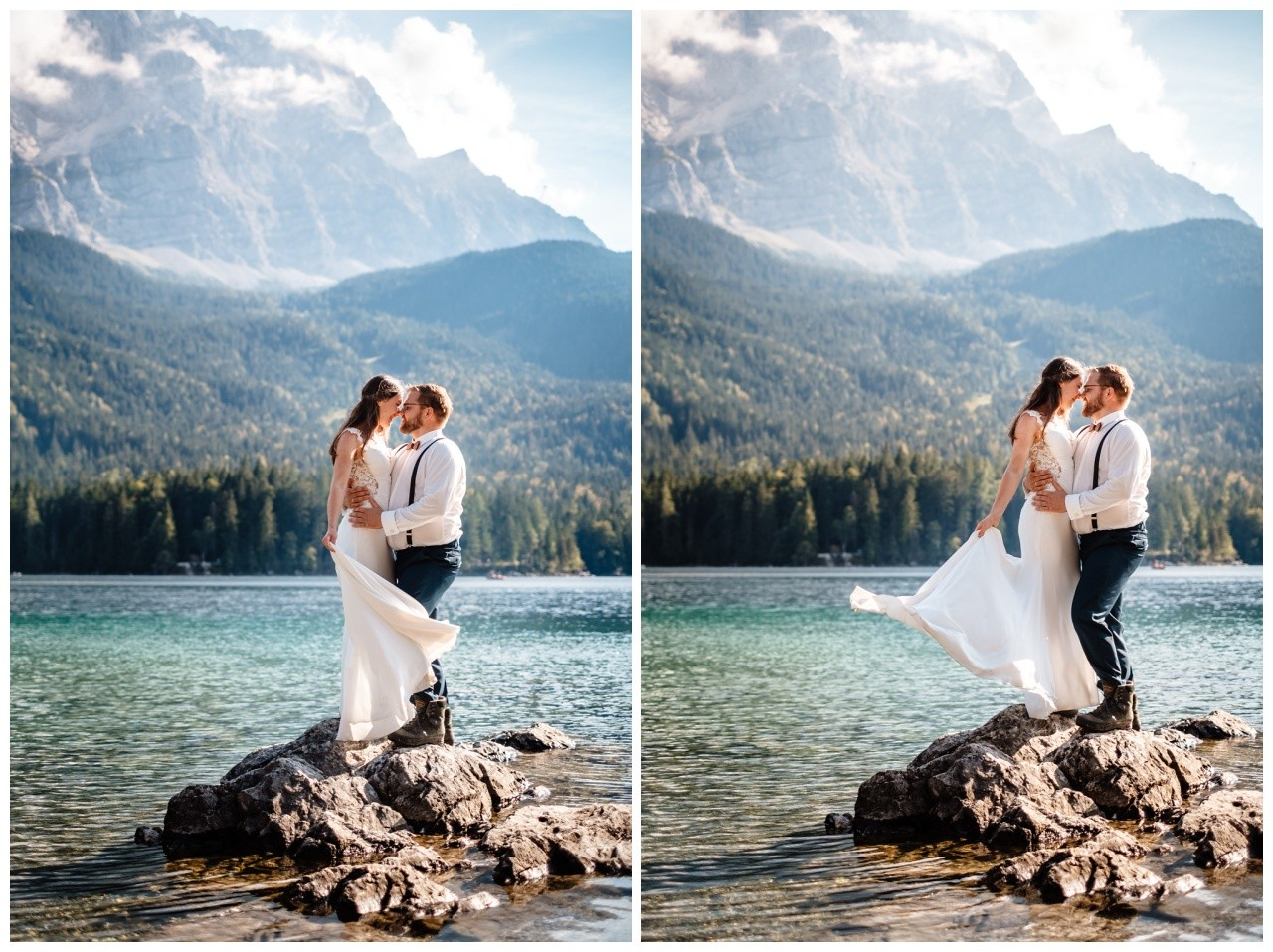 hochzeitsfoto eibsee zugspitze gamisch hochzeitsfotograf foto paarshooting 31 - Hochzeitsfotos am Eibsee