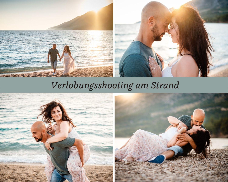 Verlobungsshooting Strand Engagement Paarshooting fotograf - Verlobungsshooting am Strand