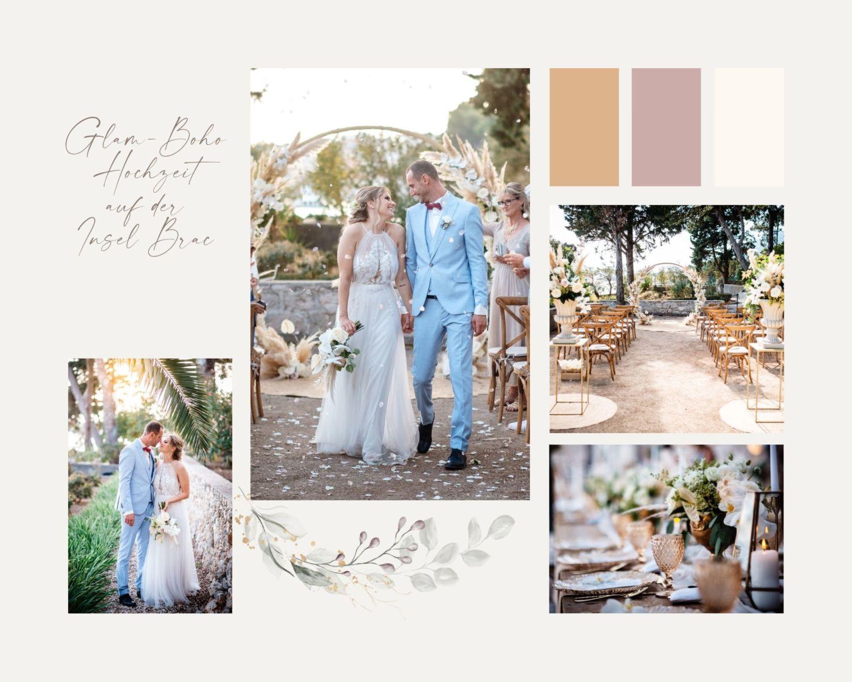 Vintage Boho Hochzeit Kroatien Ausland heiraten Strand - Hochzeit am Strand in Kroatien