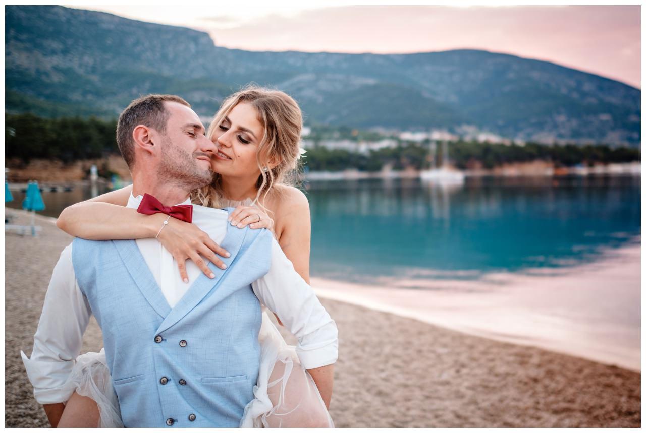 hochzeit kroatien ausland gardasee fotograf strand 107 - Hochzeit am Strand in Kroatien