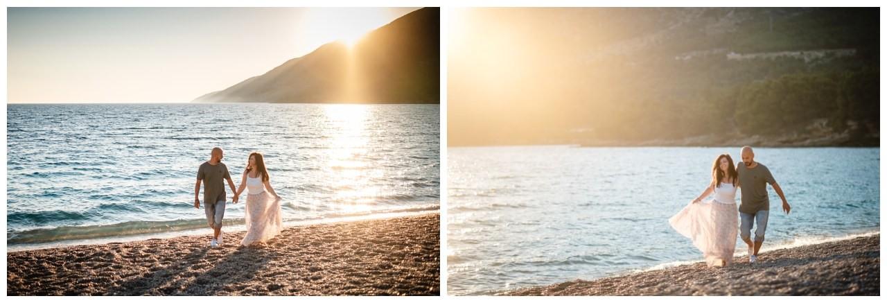 verlobungsshooting strand paarshooting hochzeit hochzeitsfotograf kroatien 4 - Verlobungsshooting am Strand