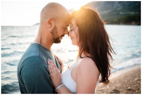 Verlobungsshooting Paarshooting am Strand von Kroatien