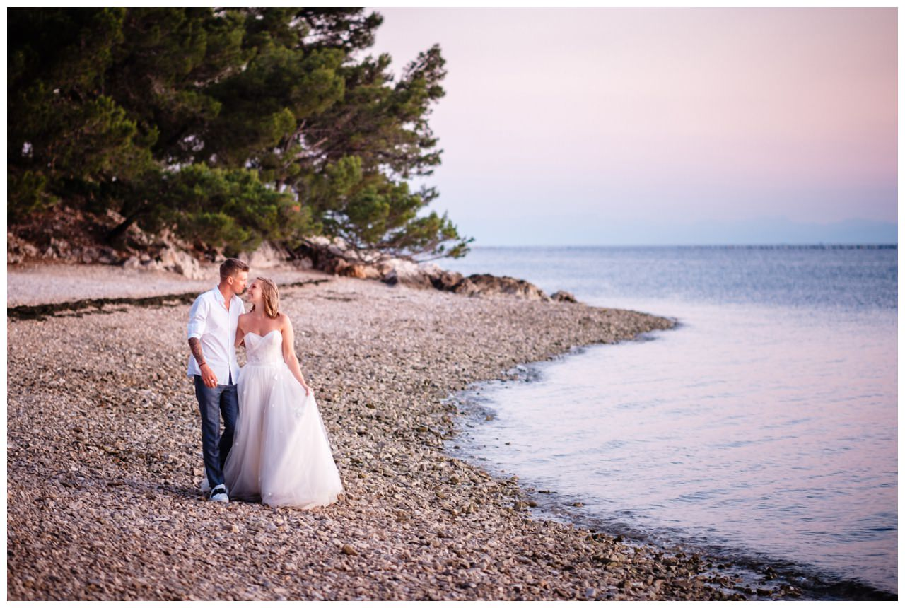 Hochzeitsfotos Strand after wedding Shooting hochzeit kroatien ausland fotograf 1 - After Wedding Shooting in Split