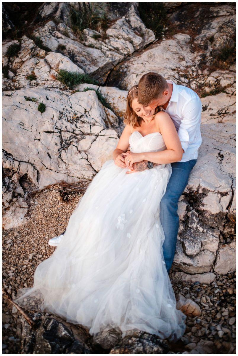 Hochzeitsfotos Strand after wedding Shooting hochzeit kroatien ausland fotograf 12 - After Wedding Shooting in Split