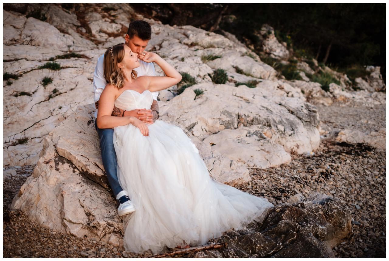 Hochzeitsfotos Strand after wedding Shooting hochzeit kroatien ausland fotograf 13 - After Wedding Shooting in Split