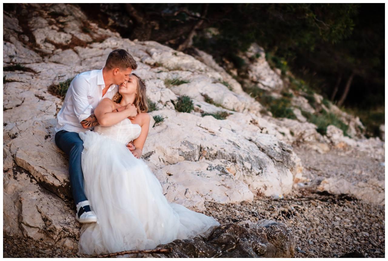 Hochzeitsfotos Strand after wedding Shooting hochzeit kroatien ausland fotograf 15 - After Wedding Shooting in Split