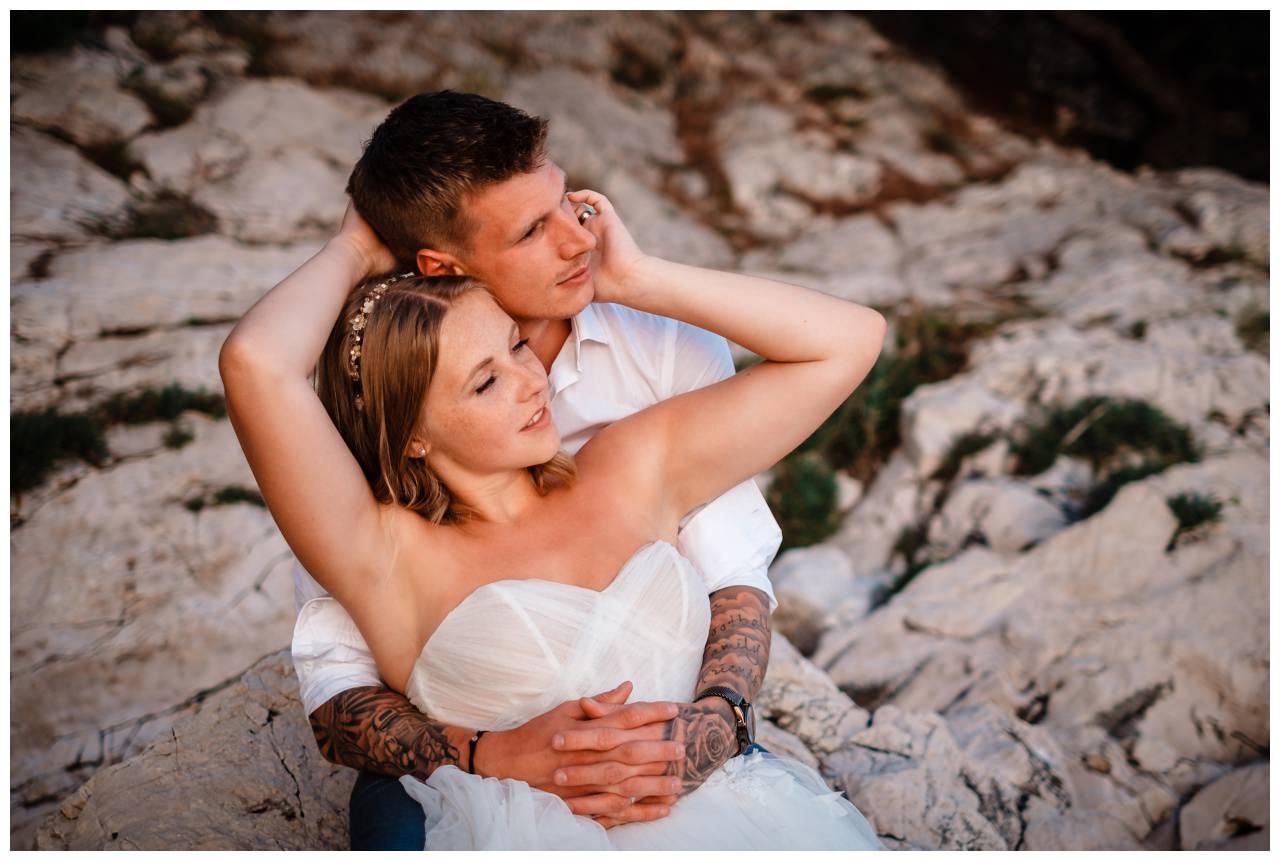 Hochzeitsfotos Strand after wedding Shooting hochzeit kroatien ausland fotograf 16 - After Wedding Shooting in Split