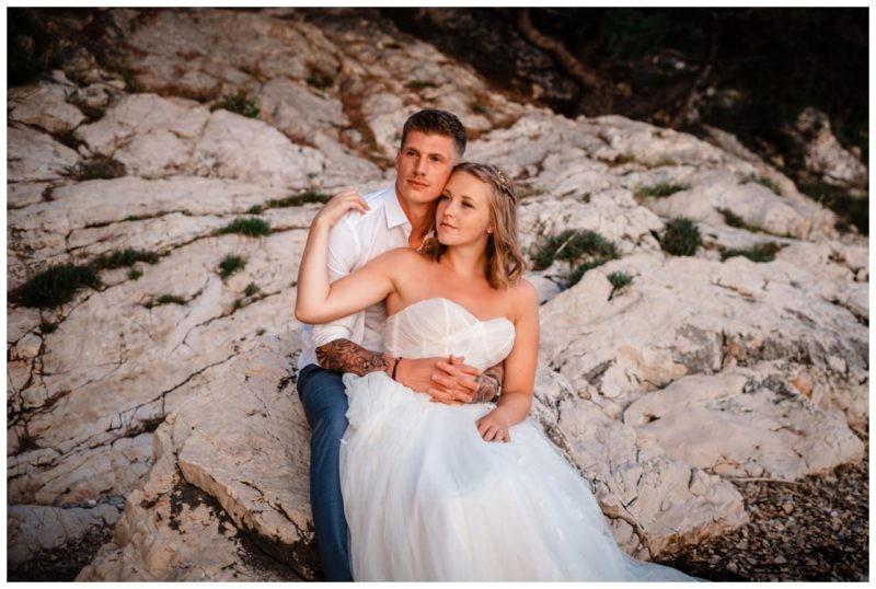 After Wedding Shooting Strand Kroatien Hochzeit Hochzeitsfotograf Brautpaar