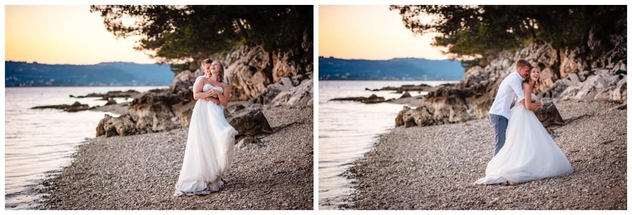 Hochzeitsfotos Strand after wedding Shooting hochzeit kroatien ausland fotograf 18 - After Wedding Shooting in Split