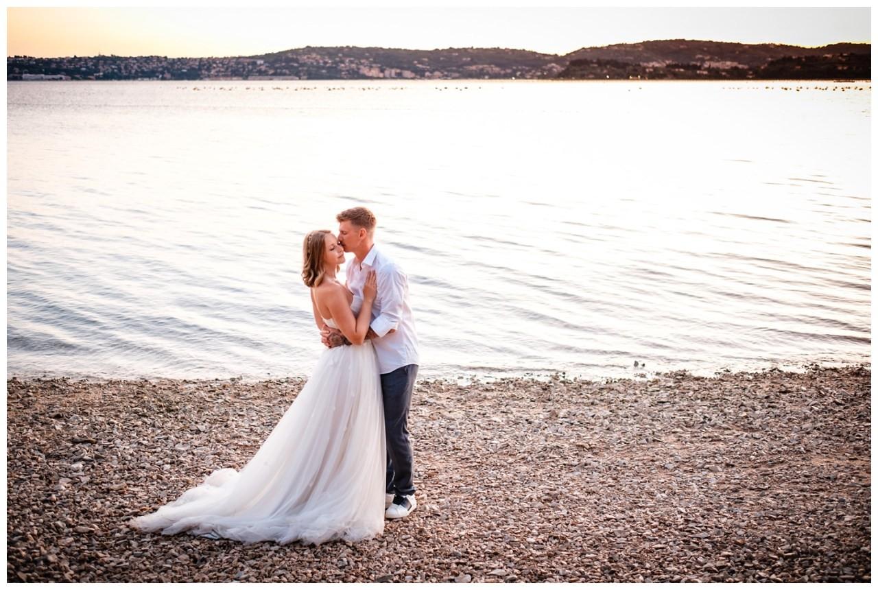 Hochzeitsfotos Strand after wedding Shooting hochzeit kroatien ausland fotograf 3 - After Wedding Shooting in Split