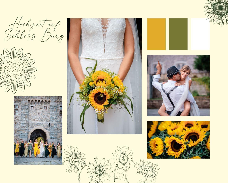 White Black Modern Coffee Quote Photo Collage - Hochzeit auf Schloss Burg