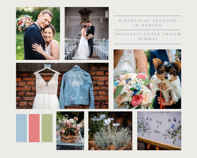 Beige and Pink Clean Grid Wedding Moodboard Photo Collage 1 1 - Kirchliche Hochzeit in Kürten