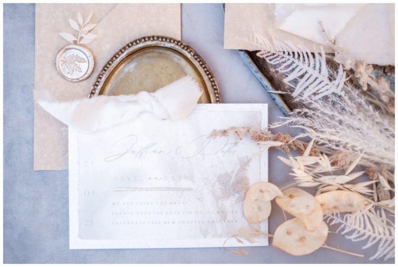 Papeterie zur Hochzeit Einladungskarte Einladung Flatlay Tipps