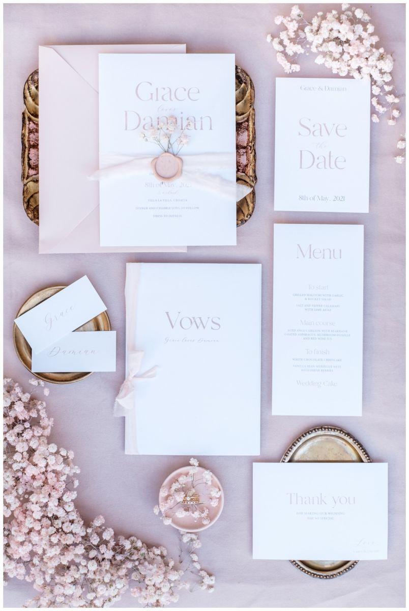 Hochzeitspapeterie Einladungskarte Einladung Hochzeit Flatlay Fotograf 21 - Eure Einladung als Flatlay inszeniert