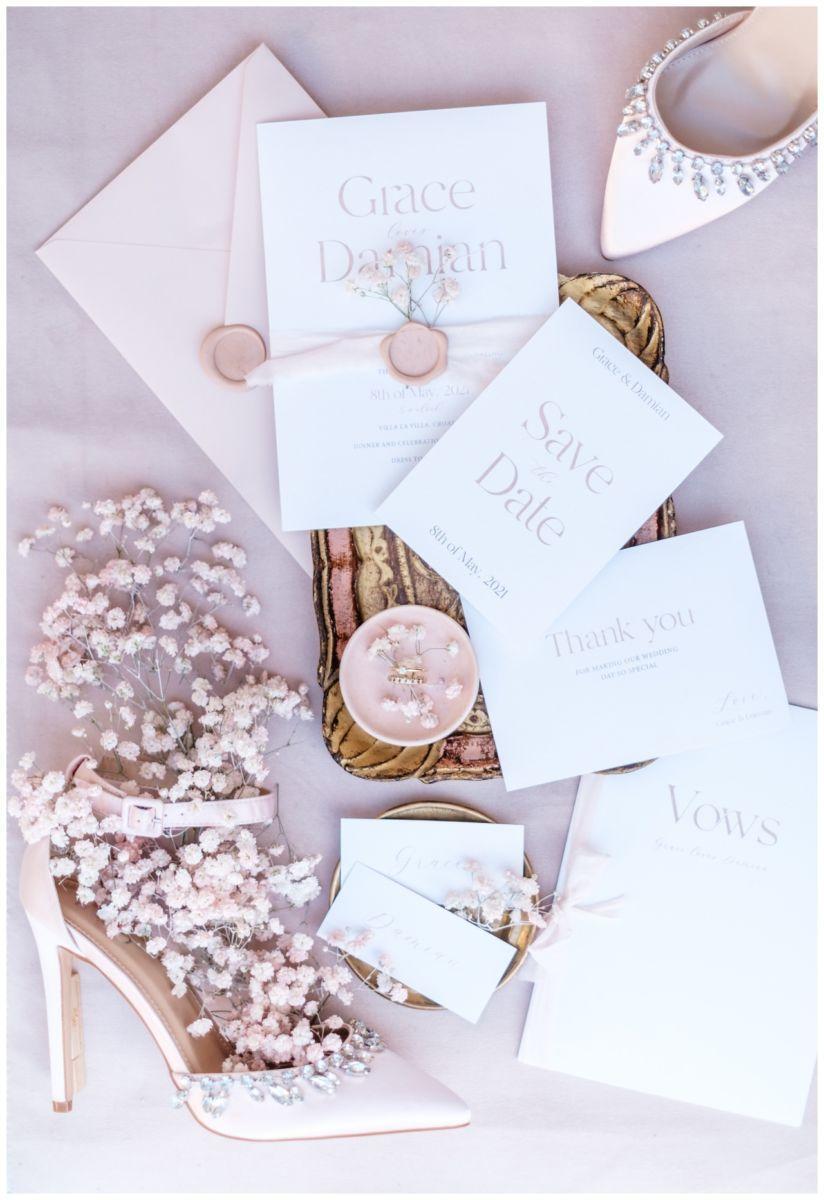 Hochzeitspapeterie Einladungskarte Einladung Hochzeit Flatlay Fotograf 22 - Eure Einladung als Flatlay inszeniert
