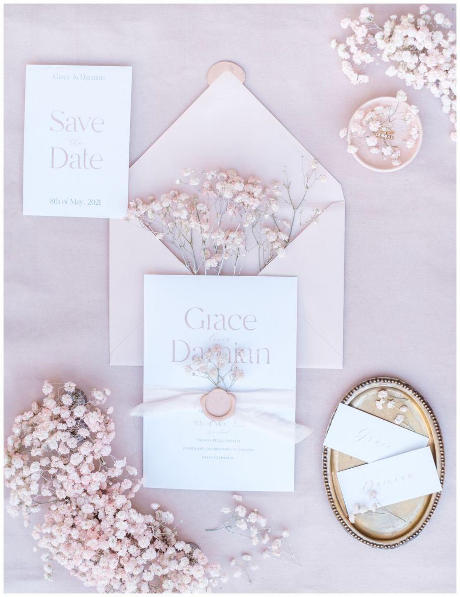 Hochzeitspapeterie Einladungskarte Einladung Hochzeit Flatlay Fotograf 24 - Eure Einladung als Flatlay inszeniert